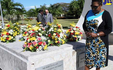 Remarks delivered by the Honourable Olivia Grange, Minister of Culture, Gender, Entertainment and Sport at the Floral Tribute in honour of Sir Alexander Bustamante