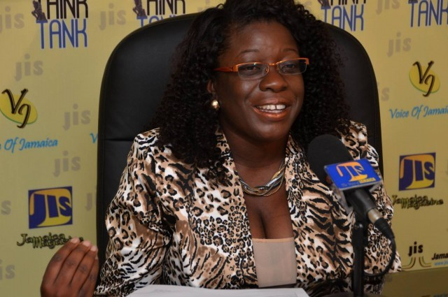 Director of the Tourism Linkages Network, Carolyn McDonald-Riley, addresses JIS 'Think Tank'.