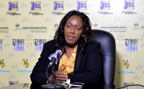 Director of the Standards Division at the Bureau of Standards Jamaica (BSJ), Julia Bonner Douette, addresses a recent JIS Think Tank.