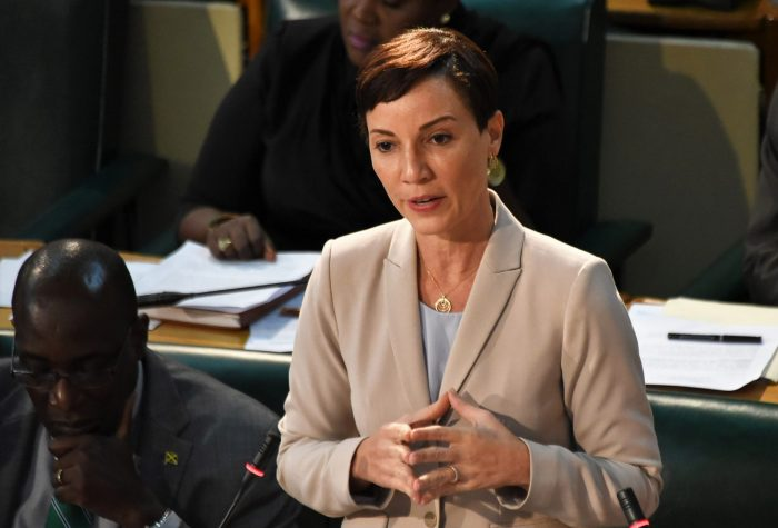 Leader of Government Business and Minister of Foreign Affairs and Foreign Trade, Senator Hon. Kamina Johnson Smith, pilots the the Public Procurement (Amendment) Act 2018 in the Upper House on Friday (June 15) .