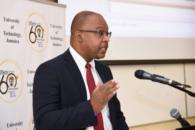 Chief Executive Officer, Cannabis Licensing Authority, Lincoln Allen, addressing the opening ceremony of the University of Technology's (UTech) third annual Jamaican Medical Cannabis Integration Symposium (JAMECANN), on Thursday (July 5), at the institution's campus in Papine, St. Andrew.