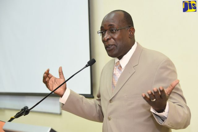 Minister of Education, Youth, and Information, Senator the Hon. Ruel Reid.