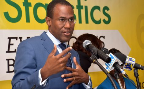 Finance and the Public Service Minister, Dr. the Hon. Nigel Clarke, emphasises a point while addressing the Statistical Institute of Jamaica's (STATIN) recent media sensitisation seminar at the Terra Nova All-Suite Hotel in St. Andrew. The seminar, which was held under the theme 'Statistics and the Media – Why Understanding Official Data Matters', was aimed at assisting media practitioners to understand, interpret and present official data accurately, and focused on the gross domestic product and consumer price index.