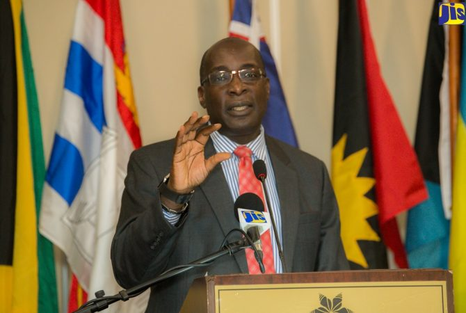 Minister of Education, Youth and Information, Senator, the Hon. Ruel Reid.