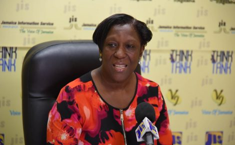 Director, Policy and Research, Bureau of Gender Affairs, Sharon Coburn Robinson, speaks at a Jamaica Information Service (JIS) 'Think Tank', on November 7.