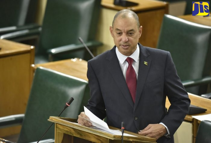 Senator Don Wehby, who is Chairman of JAMPRO, makes his contribution to the State of the Nation Debate in the Senate on December 14.