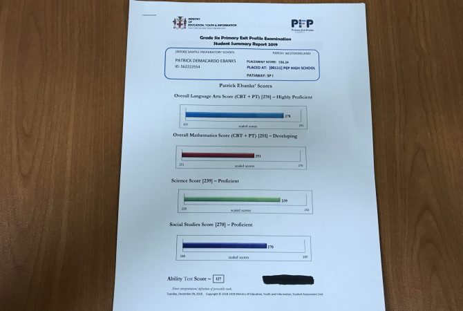 Parents To Access Student Summary Report For PEP Jamaica