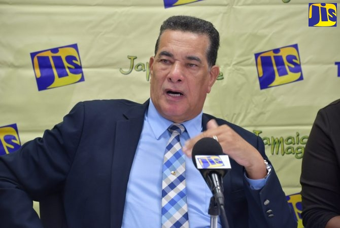 5469 - Mayor of Montego Bay, Councillor Homer Davis, addresses a Jamaica Information Service (JIS) Think Tank held at the St. James Municipal Corporation offices in Montego Bay on Thursday (July 25).