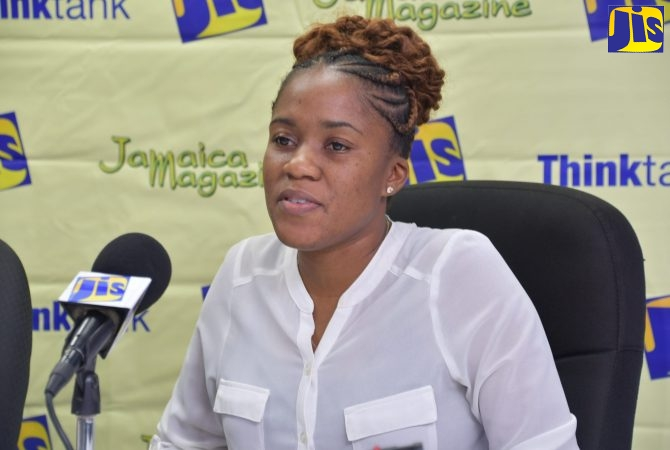 Disaster Coordinator for St. James, Tamoy Sinclair, addresses a Jamaica Information Service (JIS) 'Think Tank' that was held at the St. James Municipal Corporation in Montego Bay on Thursday (July 25).