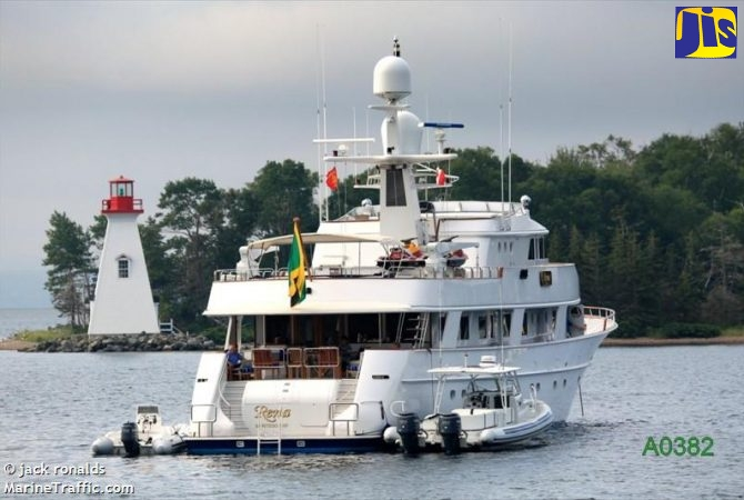 Vessels such as this Jamaican Yacht, Rena, anchored off the coast of Nova Scotia, Canada, made some noise for seafarers at sea on May 1, at 12 noon local time, in solidarity with a global salute to the seafarers at sea who have kept international trade going during the COVID-19 pandemic.
