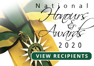 National Honours and Awards 2020 Recipients