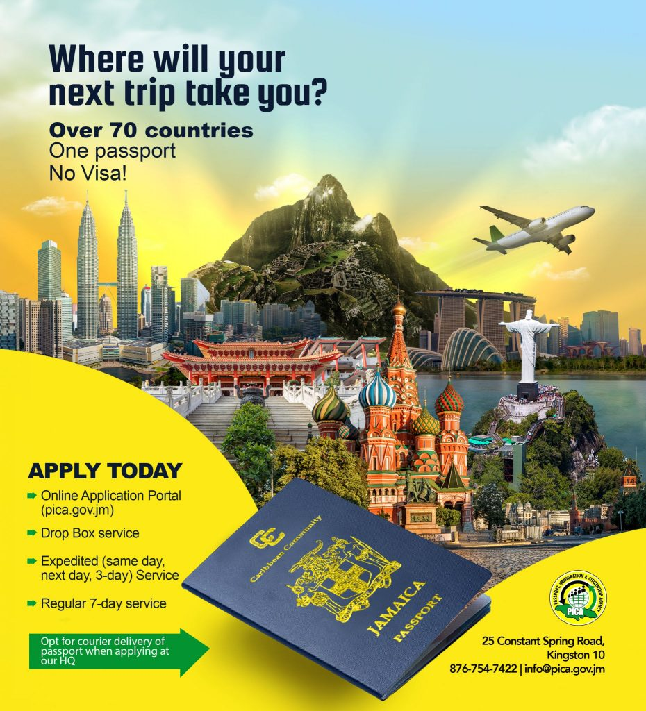 Renew Your Passport Online @ www.pica.gov.jm