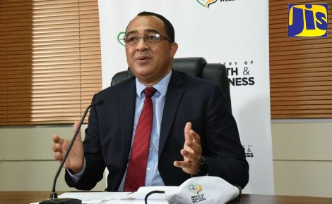 ​Minister of Health and Wellness, Dr. the Hon. Christopher Tufton, addressing the Ministry's weekly virtual press conference on Thursday (Sept. 24).​