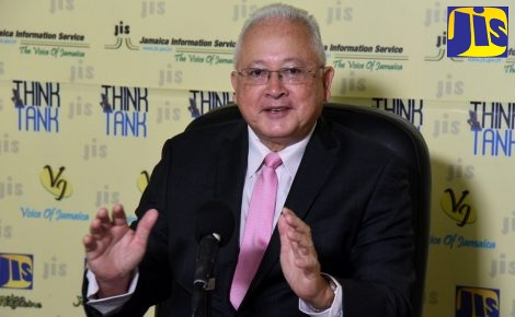 Minister of Justice, Hon. Delroy Chuck, speaks at a recent Jamaica Information Service (JIS) Think TanK.