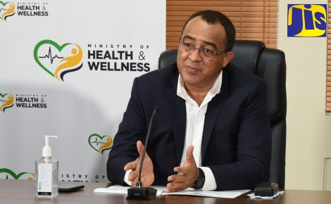 Minister of Health and Wellness, Dr. the Hon Christopher Tufton, addresses the weekly virtual COVID Conversations press conference on Thursday (November 19).