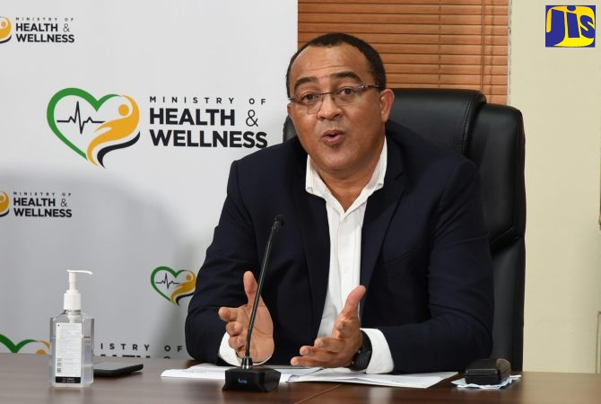 Minister of Health and Wellness, Dr. the Hon. Christopher Tufton, addressing the weekly virtual COVID Conversations press briefing on Thursday (November 19).