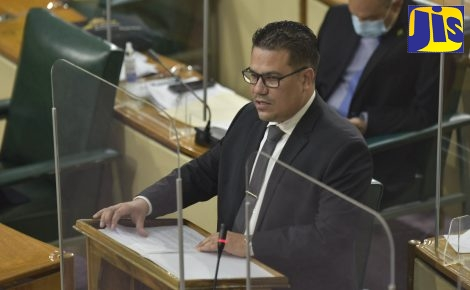 Minister without Portfolio in the Ministry of National Security, Senator the Hon. Matthew Samuda, makes a statement on the special investigation report into the Rio Cobre Juvenile Correctional Centre by the Independent Commission of Investigations (INDECOM), during the sitting of the Senate on Friday (Feb. 12).