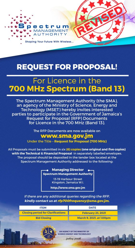 Spectrum Management Authority Request For Proposals
