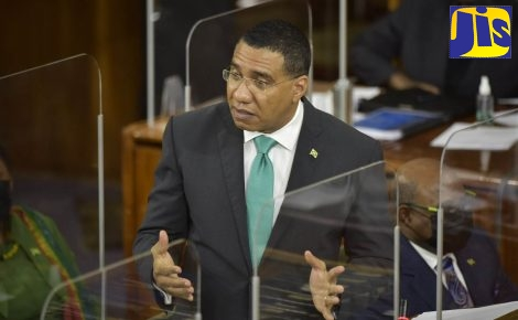 Prime Minister, the Most Hon. Andrew Holness, makes his contribution to the 2021/22 Budget Debate in the House of Representatives on March 18.