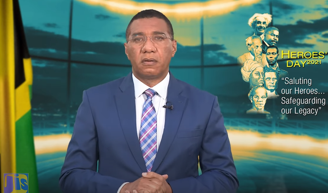 The Most Honourable Andrew Holness National Heroes Day Message 2021