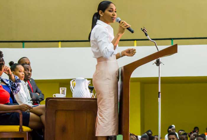 The Minister of Youth and Culture, the Honourable Lisa Hanna, MP