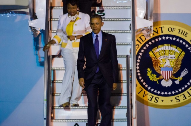 President Barack Obama Arrives in Jamaica