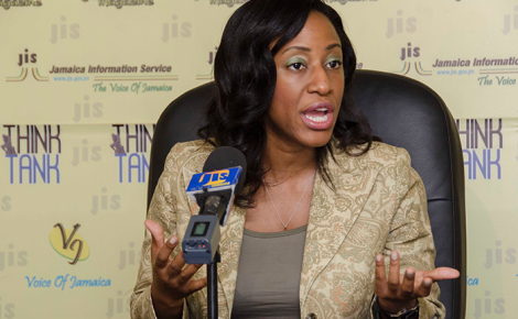 Urologist at the University Hospital of the West Indies, and Lecturer at the University of the West Indies, Dr. Belinda Morrison, speaks at a JIS 'Think Tank'.