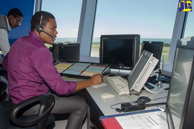 Air Traffic Controllers on duty at the Norman Manley International Airport in Kingston