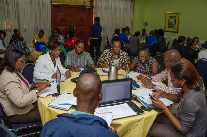 Participants in a performance audit workshop, organized by the Ministry of Finance and Planning's Internal Audit Directorate (IAD), take part in an interactive session during the engagement which was held at the Knutsford Court Hotel, New Kingston, from October 20 to 23. The workshop, which was attended by government internal auditors from Ministries, Departments, and Executive Agencies, was staged in collaboration with the Office of the Cabinet.