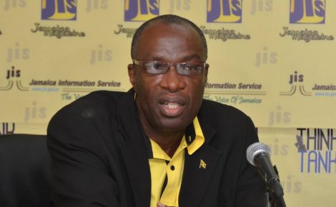 Executive Director of the Jamaica Cultural Development Commission Dr. Delroy Gordon speaking at a recent Jamaica Information Service Think Tank