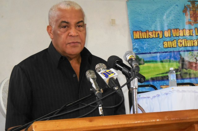 Minister of Water, Land, Environment and Climate Change, Hon. Robert Pickersgill addresses a public consultation with stakeholders held at the Negril Community Centre on Friday January 30. The Minister announced that he will shortly be signing a new development order for the Negril/Green Island area which will allow for the construction of buildings up to 4 floors high.