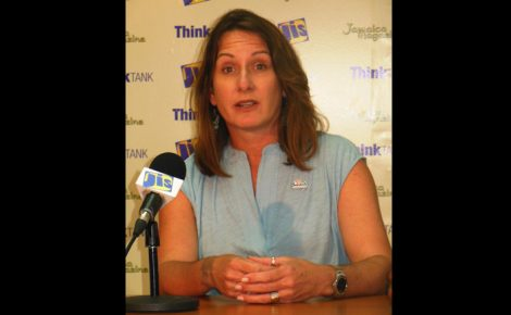 Programmes Manager at the Sandals Foundation, Heidi Clarke speaking at a JIS Think Tank in Montego Bay recently.