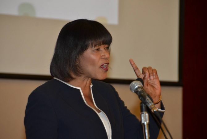 Prime Minister Most Hon. Portia Simpson Miller addresses participants in the special ceremony hosted by the Hospiten Group, to announce the construction of a US$20 million specialised general hospital for Western Jamaica.