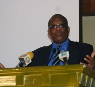 Deputy Speaker of the House of Representatives, Hon. Lloyd B Smith, addressing the Young Professionals Forum, at the 36th Annual Convention of the National Association of Jamaican and Supportive Organizations (NAJASO) on Saturday July 20, at the Secrets Wild Orchid Hotel, in Montego Bay, St. James.