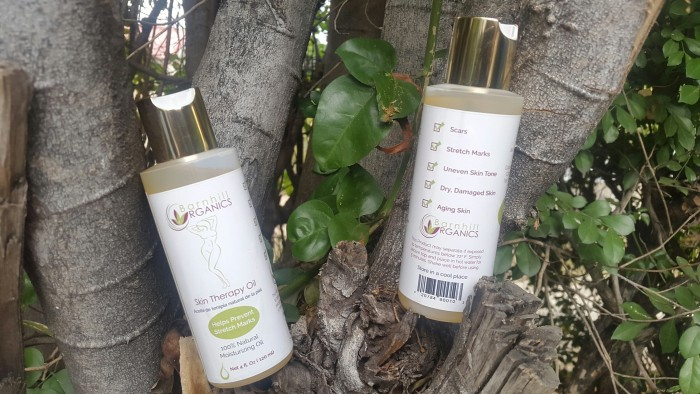 Skin therapy oil from the Barnhill Organics skin care line. The line was created through the assistance of the Scientific Research Council (SRC).