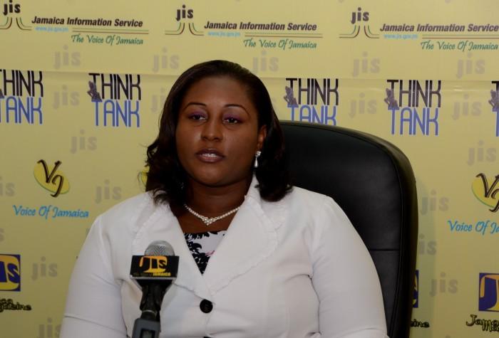 Senior Administrator at the Cornwall Regional Hospital, Keriesa Bell Cummings, addresses a recent JIS Think Tank.