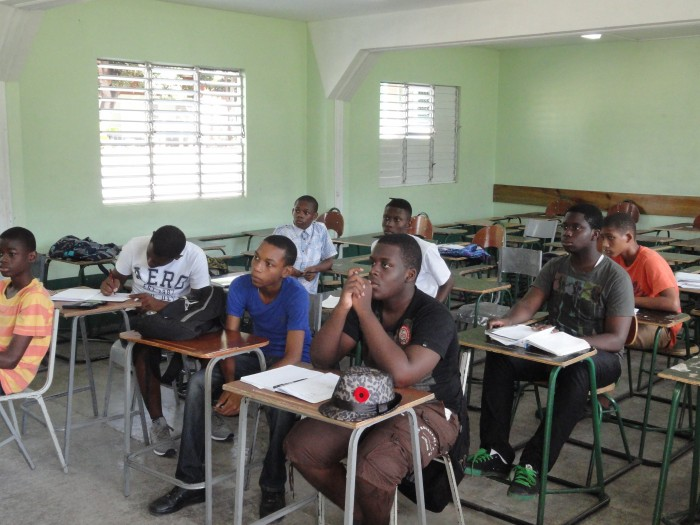 Third form students of Calabar High School paying keen attention during a mathematics class organised by the Calabar Old Boys' Association (COBA) as part of its 'Building a Mathematics culture at Calabar' programme.