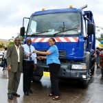 Garbage Compactor Handed Over in Falmouth