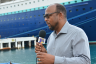 Chairman of Jamaica National Cruise Council and Mayor of St. Ann's Bay, Michael Belnavis, fielding questions at the Reynolds' Cruise Pier in Ocho Rios.