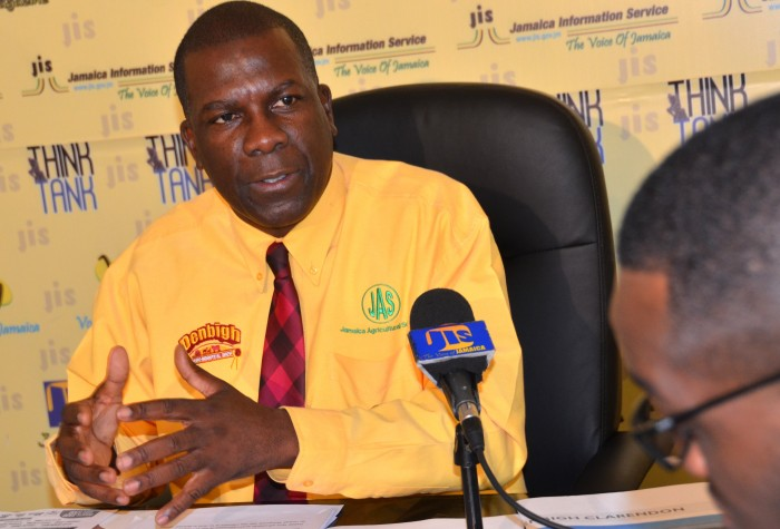 President of the Jamaica Agricultural Society (JAS) and Chairman of the Denbigh Show Committee, Senator Norman Grant, says rural farmers must be celebrated for contributing to economic growth in the country. He was addressing a JIS 'Think Tank' on  July 1, 2015, where details Denbigh 2015 show were disclosed.
