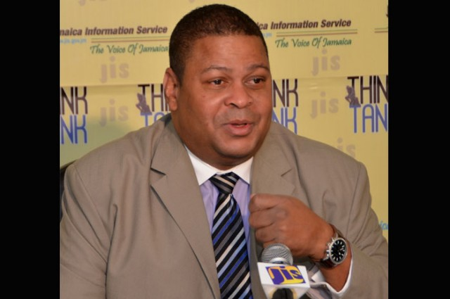 Vice President for Export and Market Development at Jamaica Promotions Corporation (JAMPRO), Robert Scott, speaking at a recent JIS 'Think Tank'.