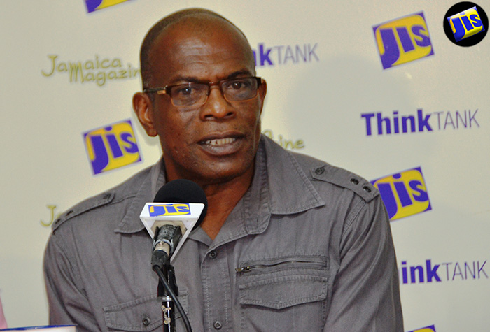 Jamaica National Heritage Trust (JNHT) Special Projects Director and Archaeologist, Dorrick Gray, addresses a Think Tank at the JIS Montego Bay Regional Office, where he gave details about the staging of the Seville Emancipation Jubilee on July 31 into the morning of August 1.