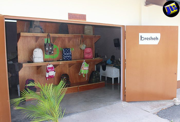 A colourful collection of bags welcome customers at the Bresheh location on South Camp Road.