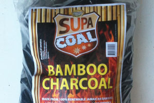 Bamboo charcoal, one of the products developed as part of the bamboo resuscitation project by the Bureau of Standards Jamaica (BSJ).