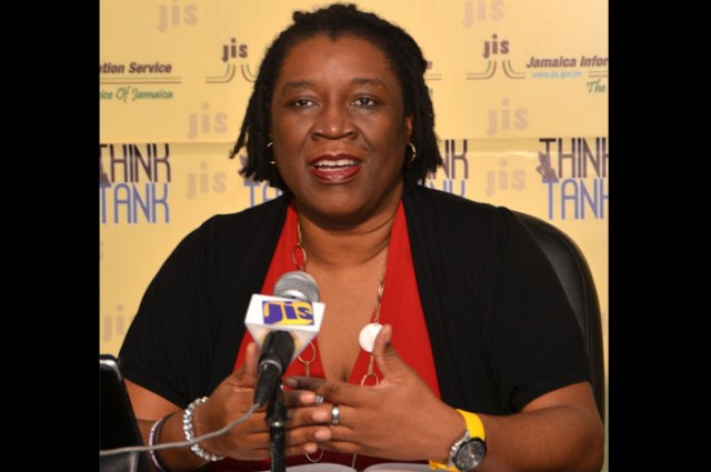 Film Commissioner and Manager of Creative Industries at Jamaica Promotions Corporation (JAMPRO), Carole Beckford, outlines plans and activities for the staging of the Jamaica Film Festival, July 7 to 11 in Kingston, at a JIS 'Think Tank' on February 17.