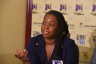 Head of the Cyber Incident Response Team (CIRT), Dr. Moniphia Hewling, addresses a recent Think Tank at the Jamaica Information Service (JIS) headquarters in Kingston.