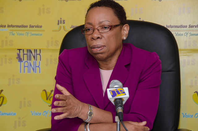Director General of the Statistical Institute of Jamaica (STATIN), Carol Coy, provides details about the National Strategy for the Development of Statistics (NSDS), at a Think Tank at the Jamaica Information Service (JIS) head office in Kingston on July 7.