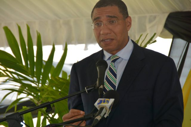 Prime Minister, the Most Hon. Andrew Holness, speaking to St. Ann business interests as well as medical practitioners at the St. Ann's Bay Regional Hospital, St. Ann, on October 6.