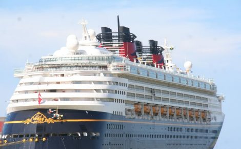 The 2,700-passenger Disney Wonder cruise ship