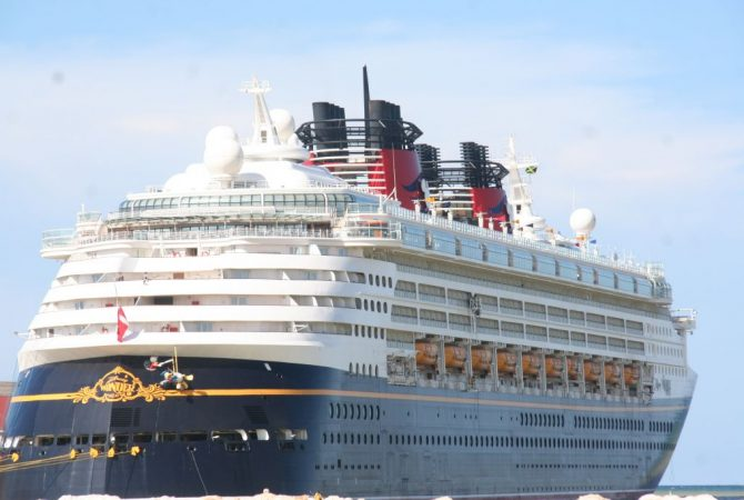 The 2,700-passenger Disney Wonder cruise ship